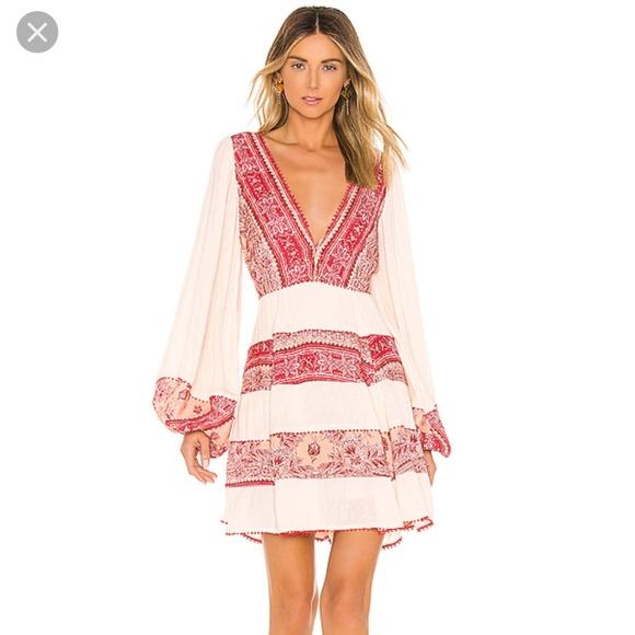 Free People My Love Mini Dress tea combo floral